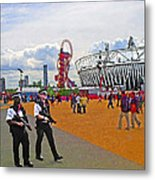 Olympic 2012 Stadium Security Metal Print by Peter Allen