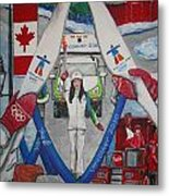 Olympic Torch Runner Laura Welsh Metal Print