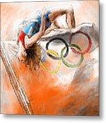 Olympics High Jump Gold Medal Ivan Ukhov Metal Print