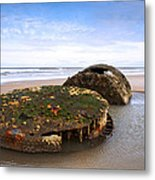 On A Beach Metal Print