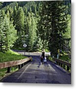 On A Country Road - Vail Metal Print