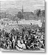 On April 19, 1866, African Americans Metal Print by Everett