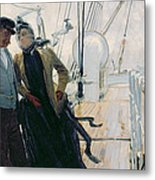 On Deck Metal Print by Louis Anet Sabatier