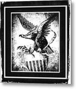 On Eagles Wings Bw Metal Print