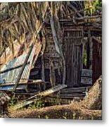 On Evergreen Plantation In La Metal Print
