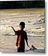 On The Bank Of The River Metal Print