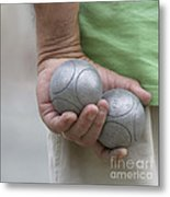 On The Boules Pitch Metal Print