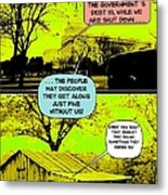On The Bright Side 2 Agreement Metal Print