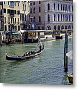 On The Canal In Venice Metal Print
