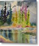 On The Colourful Pond Metal Print