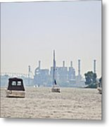 On The Delaware River Metal Print