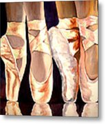 On The Edge Of Toes Metal Print