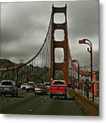 On The Golden Gate Metal Print