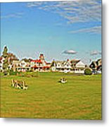 On The Green At Marthas Vineyard Metal Print