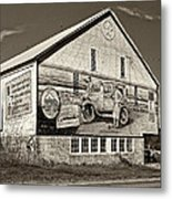 On The Lincoln Highway Sepia Metal Print