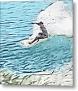 On The Lip Metal Print