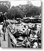 On The River Thames - Waiting For The Locks To Open - C 1902 Metal Print