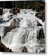 On The Rocks Glen Alpine Falls Metal Print