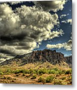 On The Superstitions  Metal Print