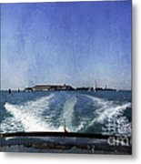 On The Water 5 - Venice Metal Print