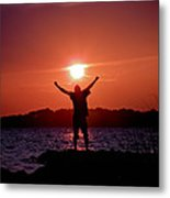 On Top Of The World Metal Print by Trish Tritz