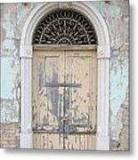 Once Proud Doorway Metal Print