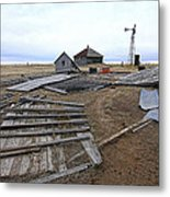 Once There Was A Farm Metal Print