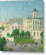One Day In Moscow Metal Print