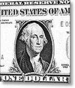 One Dollar Bill Metal Print