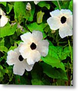 One Eye White Flower Metal Print