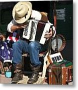One Man Band Metal Print