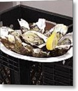 One Of The Best Luxurious Dishes Of Oysters Ive Ever Had Metal Print