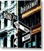 One Way Junction Metal Print by Jenn Bodro