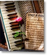 Only A Rose II Metal Print
