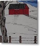 Only A Winter Day Metal Print