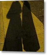 Only The Shadow Knows Metal Print