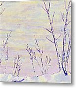 Opalescent Winter Metal Print by Sharon Gill
