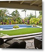 Open Air Luxury Patio Metal Print by Inti St. Clair