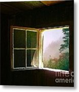 Open Cabin Window In Spring Metal Print by Julie Dant