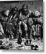Opium Addicts, 1868 Metal Print