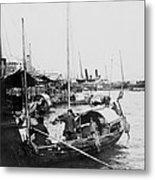 Opium Trader - Hong Kong Harbor - C 1901 Metal Print