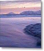 Opposing Waves At Sunset Metal Print