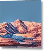 Oquirrh Mountains Utah First Snow Metal Print by Tracie Kaska
