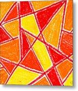 Orange Abstract Metal Print