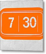 Orange Alarm Metal Print