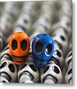 Orange And Blue Metal Print