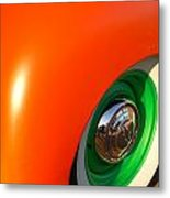 Orange And Green Metal Print