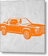 Orange Car Metal Print by Naxart Studio