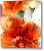 Orange Carnations Metal Print