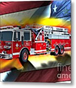 Orange Fire Auth T43 Metal Print